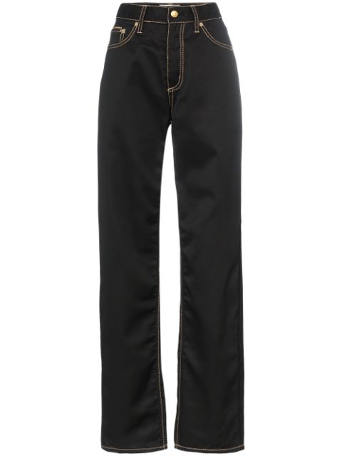 Eytys Benz Leather Straight-leg Trousers In Black