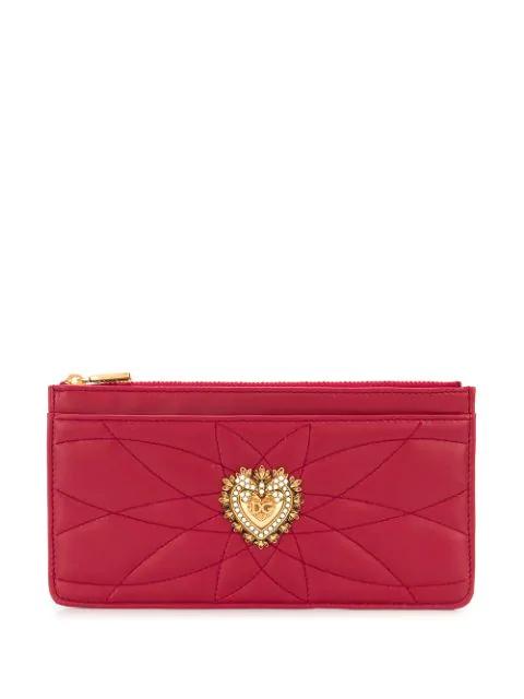 Dolce & Gabbana Large Devotion Cardholder In Red