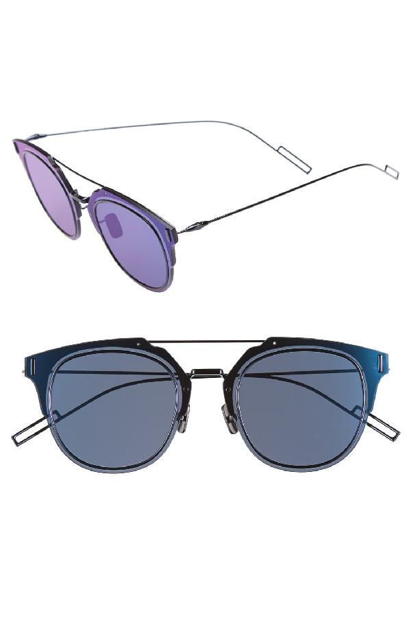 3583917422f Dior Homme  Composit 1.0S  62Mm Metal Shield Sunglasses - Shiny Blue  Ruthenium