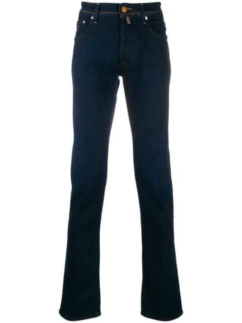 Jacob Cohen Straight Leg Jeans In Blue