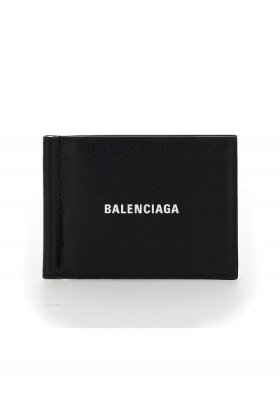 Balenciaga Wallet In Black/l White