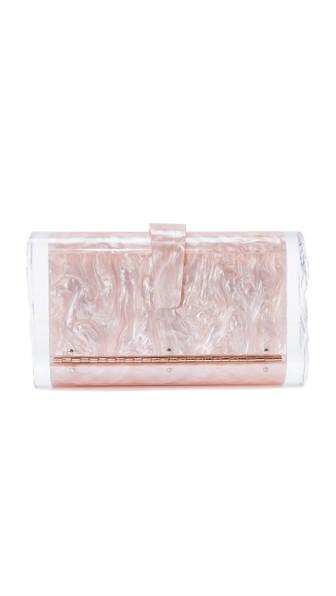 Edie Parker Lara Confetti Clutch Bag In Rose Quartz