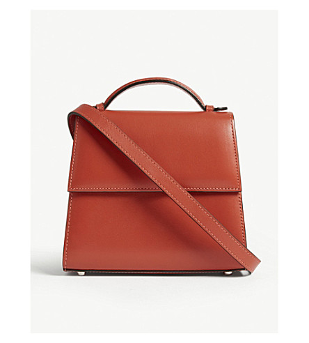 Hunting Season Small Leather Shoulder Bag In Salmon