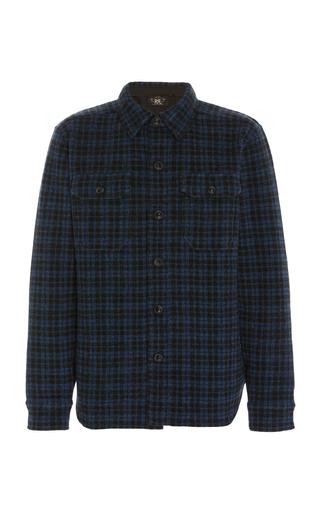 Rrl Plaid Cotton Flannel Shirt In Blue
