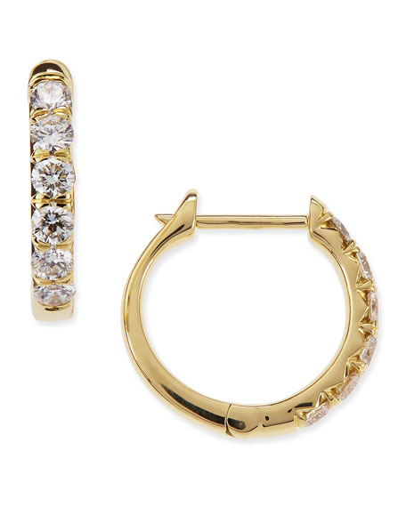 Jude Frances Pave Diamond Hoop Earrings In 18K Gold