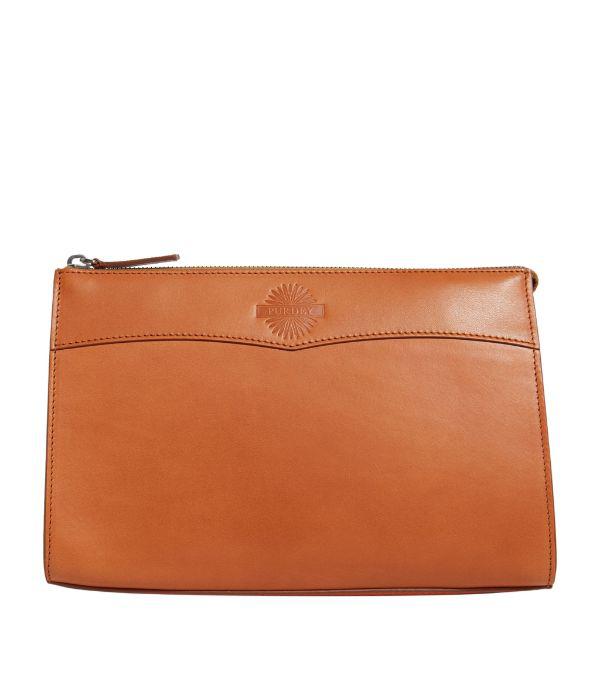 Purdey Large Leather Wash Bag