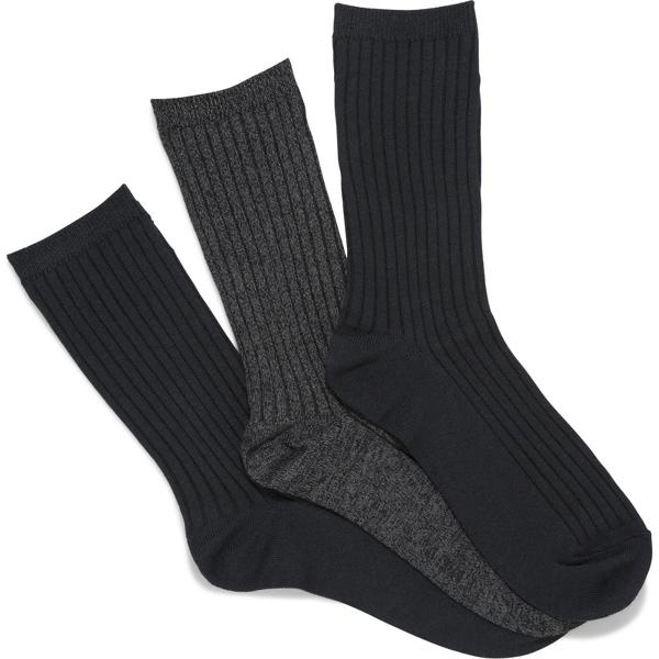 Keds 3 Pk Boot Socks In Black