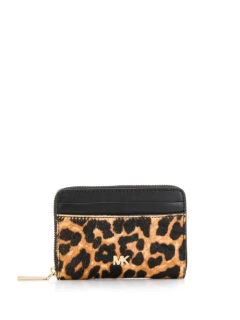 Michael Michael Kors Leopard Print Purse In Brown