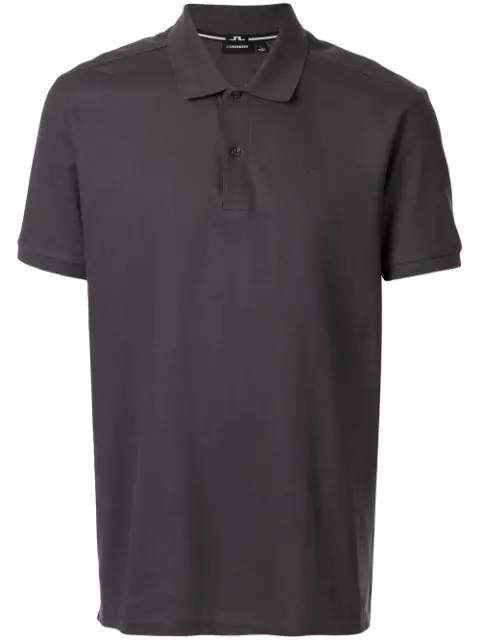 J.lindeberg Troy Short-sleeved Polo Shirt In Grey