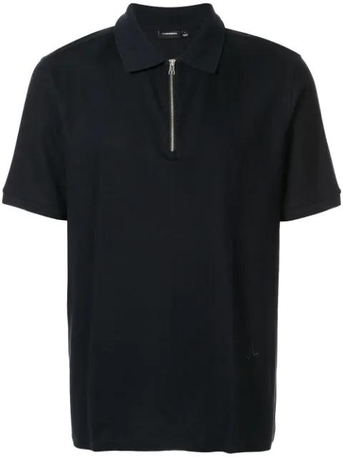 J.lindeberg Fenton Half-zip Polo Shirt In Blue