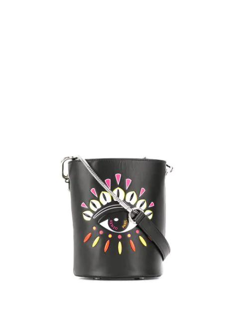 Kenzo Kontact Eye Mini Bucket Bag In Black