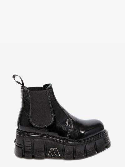 New Rock Ankle Boots In Black