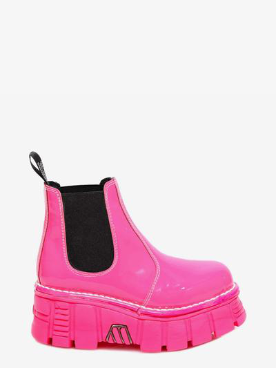 New Rock Ankle Boots In Pink