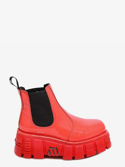 New Rock Ankle Boots In Orange