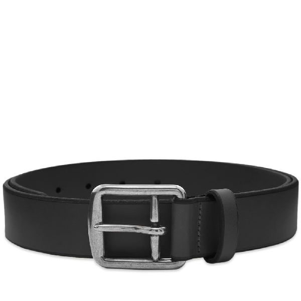 Polo Ralph Lauren Leather Casual Belt In Black