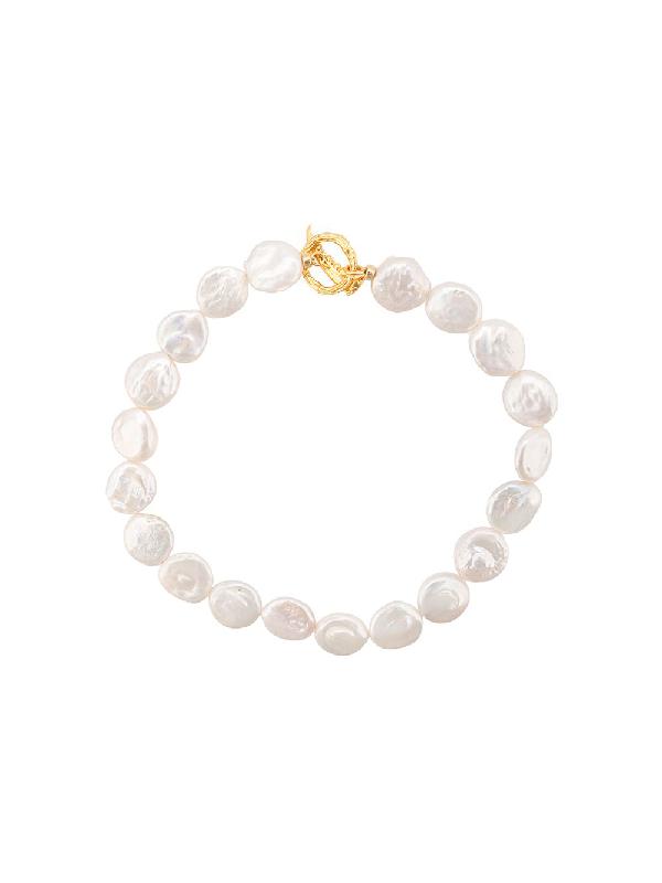 Lizzie Fortunato Goa Pearl Collar Necklace In White