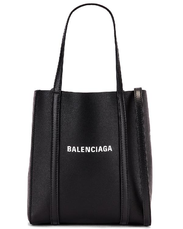 Balenciaga Everyday Xxs Tote In Black & White