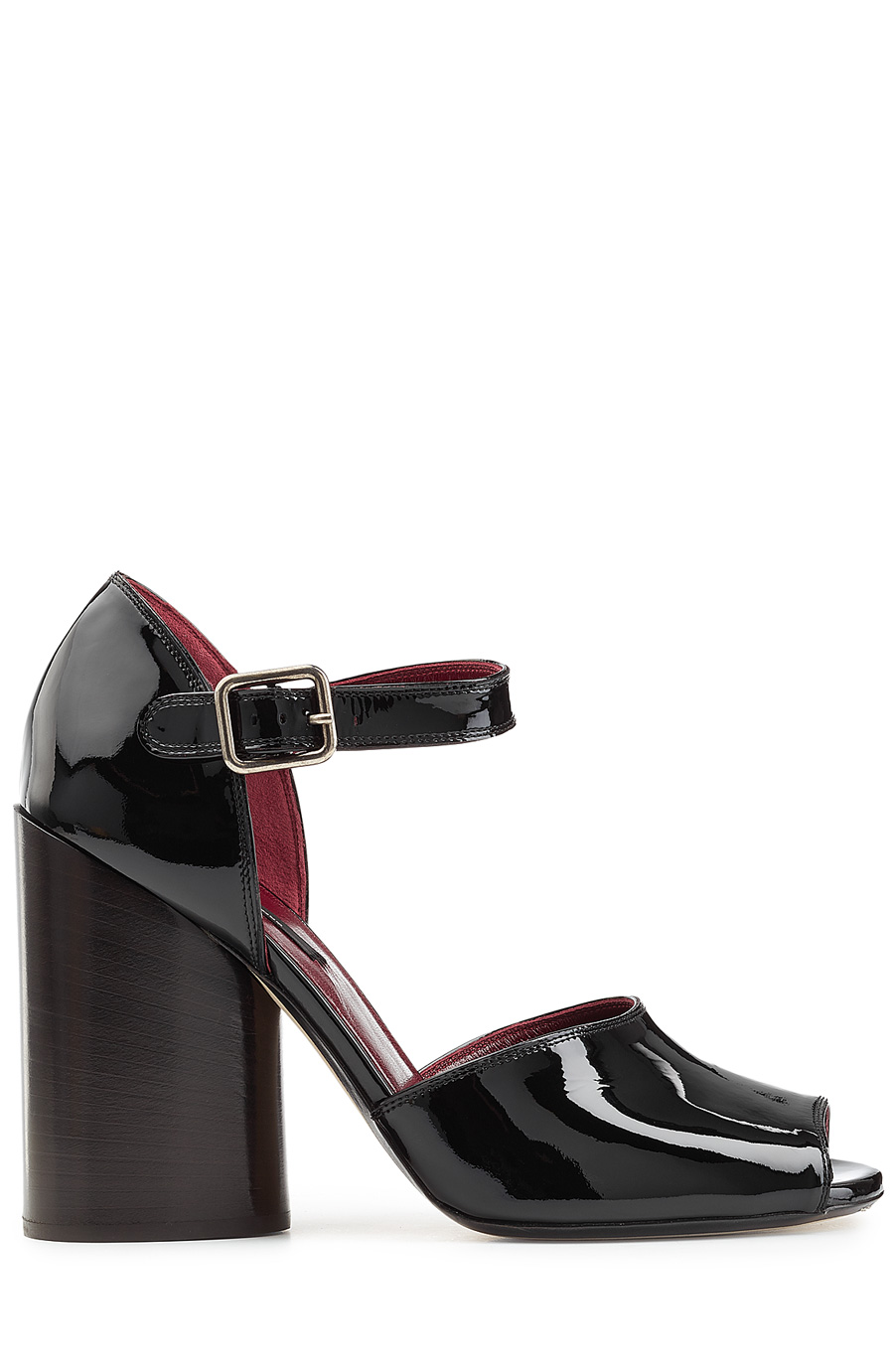 Marc Jacobs Patent Leather Sandals In Black