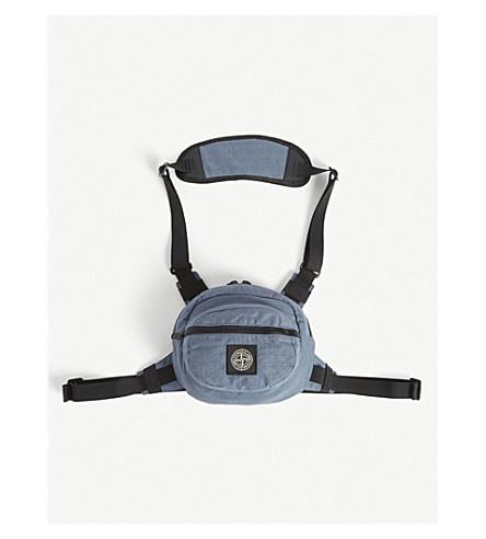 Stone Island Nylon Harness Bag In Dark Blue