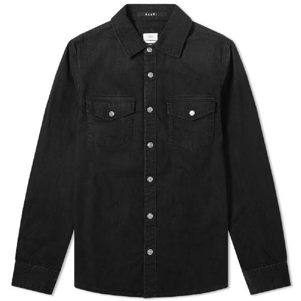 Ksubi Men's Blackmail Denim Sport Shirt