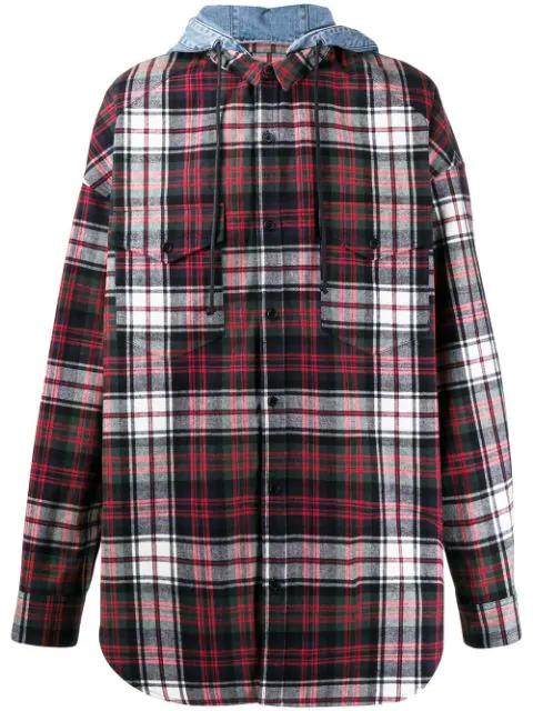 Juun.j Plaid Shirt In Red