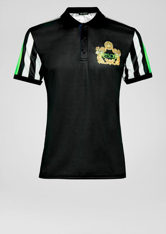 Versace Jacquard Polo Shirt In Print