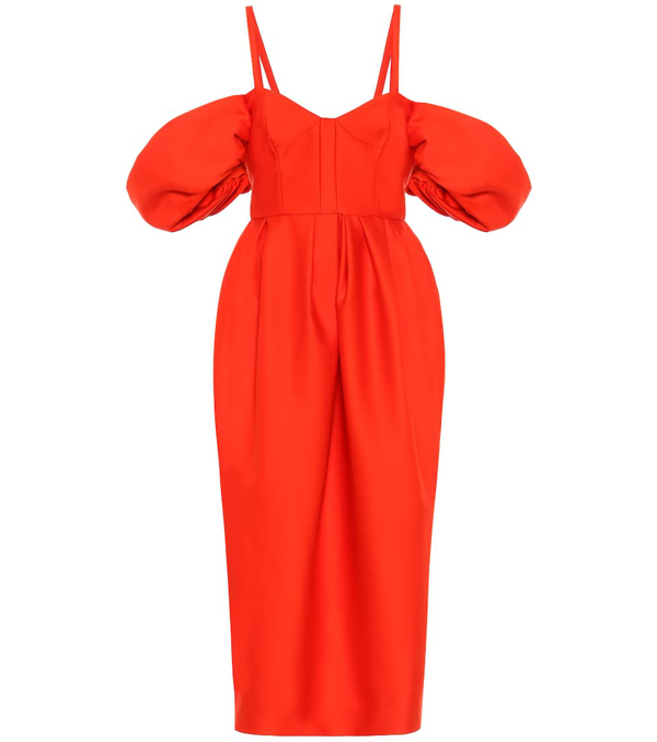 Rosie Assoulin Women's Off-the-shoulder Puff-sleeve Cocktail Dress In Red
