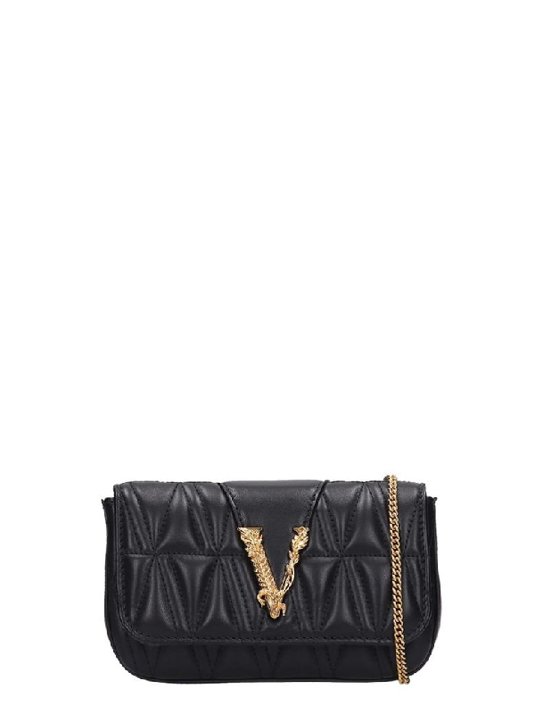 Versace Clutch In Black Leather