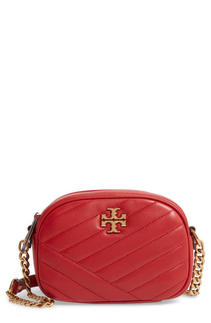 Tory Burch Kira Leather Camera Bag In Red Apple