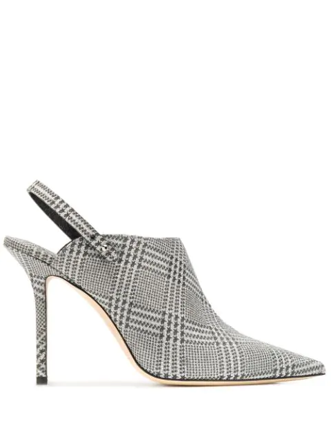 Jimmy Choo Lexx 100 Pumps In Silver