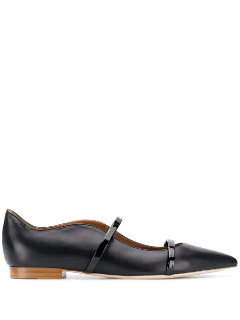 Malone Souliers Maureen Ms Flat Ballet Flats In Black Leather