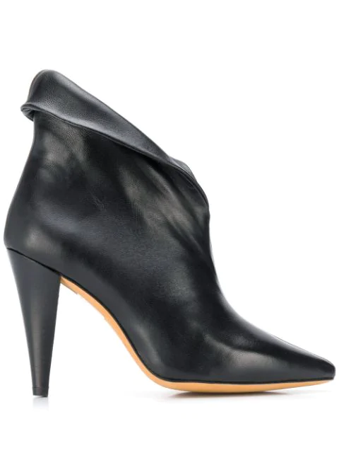 Iro Pointed Toe High-Heel Boots In Black