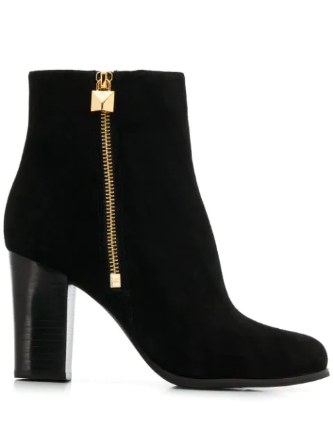 Michael Michael Kors High Heel Ankle Boots In 001 Nero
