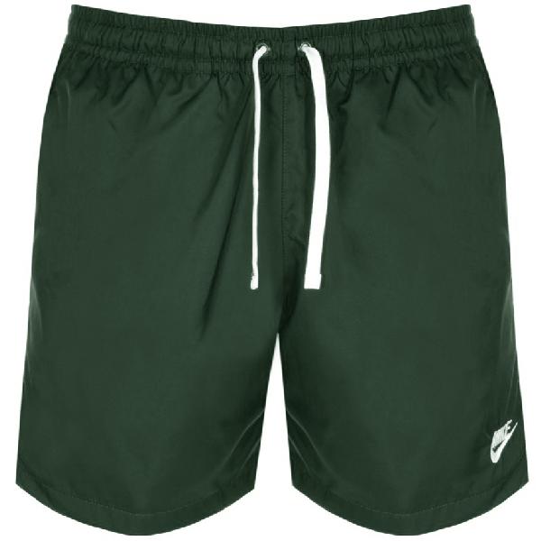 Nike Flow Logo Swim Shorts Green