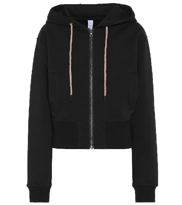 Varley Abourne Stretch-cotton Hoodie In Black