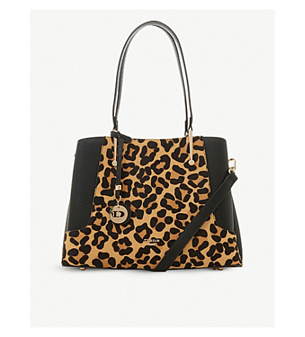 Dune Dorriss Faux-Leather Tote Bag In Leopard-Prnt Leather