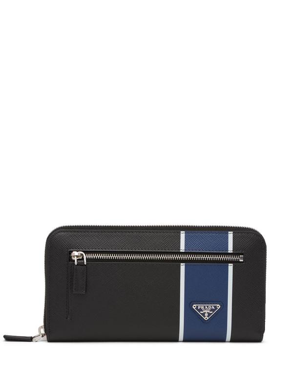 Prada Saffiano Card Holder In Black