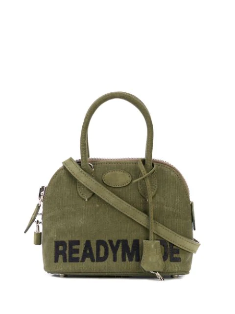 Readymade Contrast Logo Tote In Green