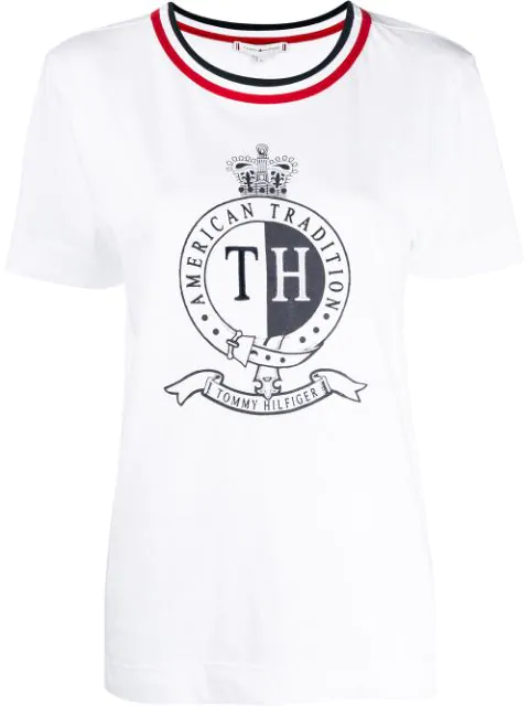 Tommy Hilfiger Printed Logo T-shirt In White
