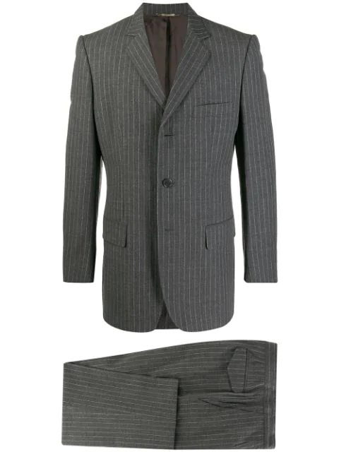 Pre-owned Dolce & Gabbana 1990's Pinstripe Suit In Grey