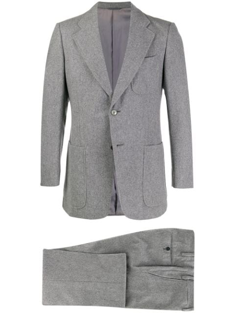 Pre-owned A.n.g.e.l.o. Vintage Cult 1960s Marzotto's Two-piece Slim-fit Suit In Grey