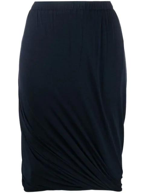 Lanvin 1990's Draped Skirt In Blue