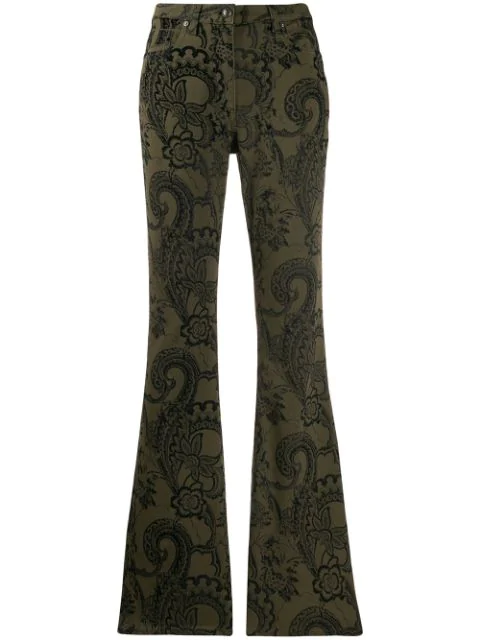 Etro Jeans Mit Paisley-print In 500 Green