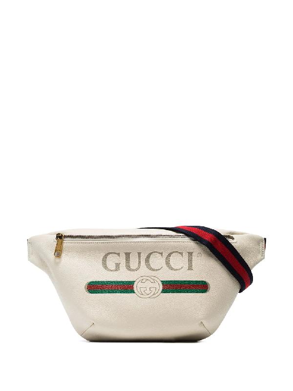 Gucci Oversized Logo Belt Bag In  White