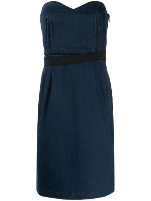 Lanvin 1990s Denim Mini Dress In Blue