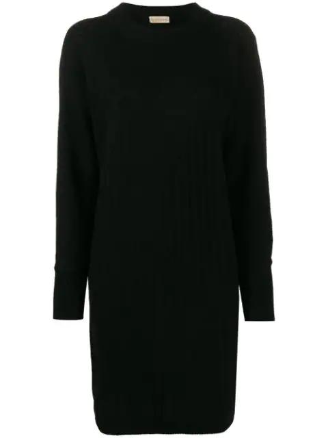 Versace 1980's Open Knit Detail Dress In Black