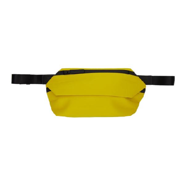 Issey Miyake Men Yellow Galette Waist Pouch In 52.yellow