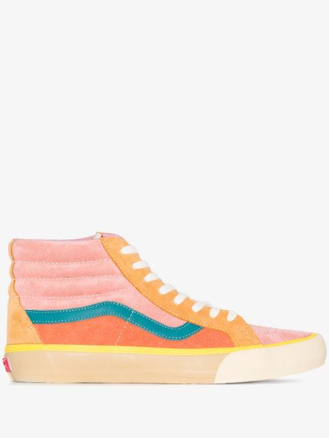 Vans Multicoloured Sk8 Reissue Suede High Top Sneakers In Pink Multi
