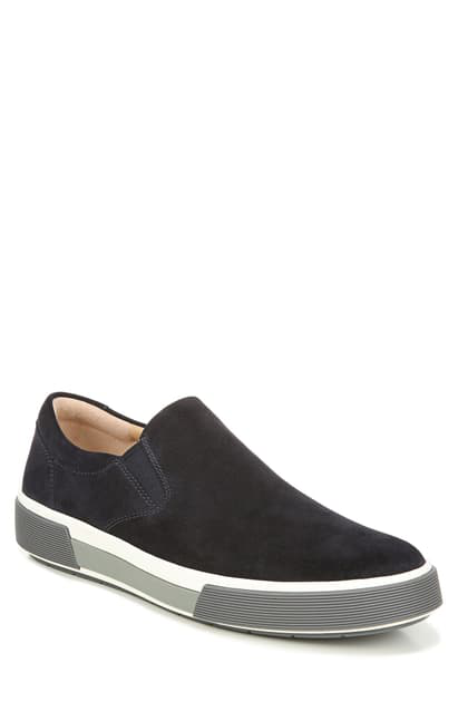 Vince Men's Randell Perforated Suede Slip-on Sneakers In Graphite
