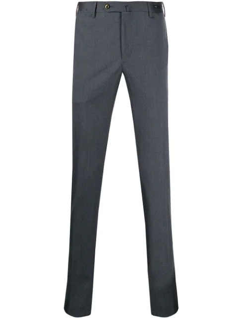Pt01 Straight-leg Tailored Trousers In Grey